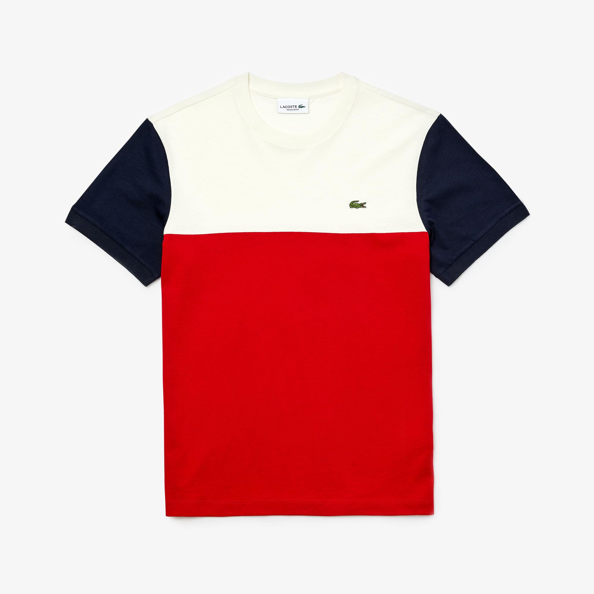 Lacoste Men's Cotton Colourblock Crew Neck T-Shirt