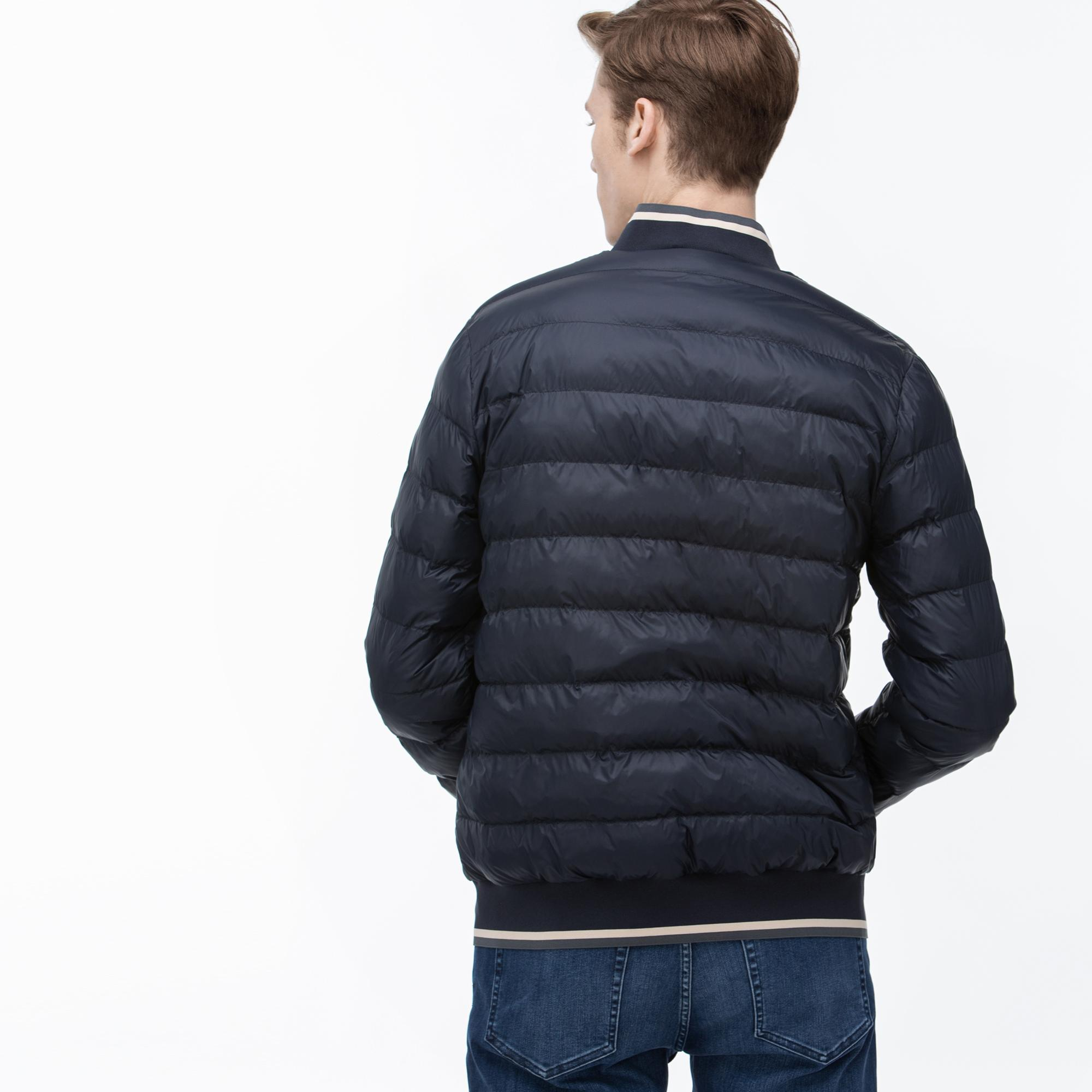 Lacoste Men's Stand-Up Collar Quilted Jacket