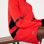 Lacoste Men's Sport Tennis Shorts İn Solid Diamond Weave Taffeta