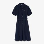 Lacoste Women's Cotton Piqué Belted Polo Dress