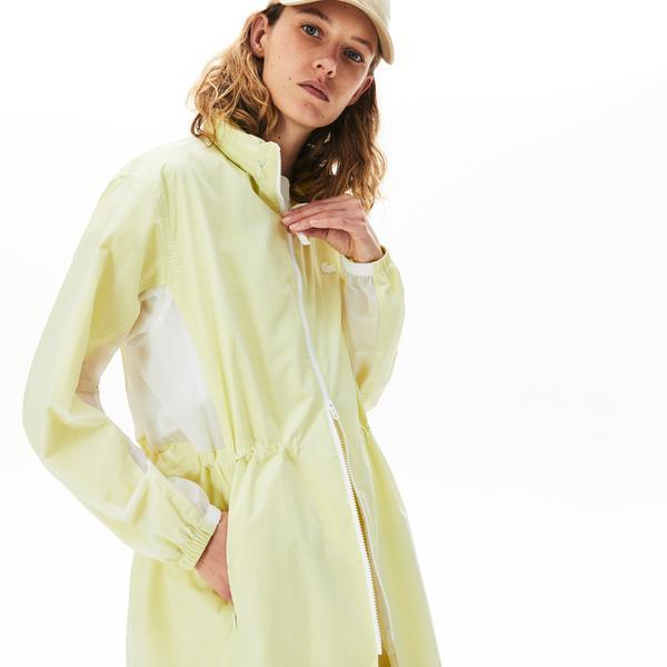 Lacoste Women's Water-Resistant Long Nylon Parka