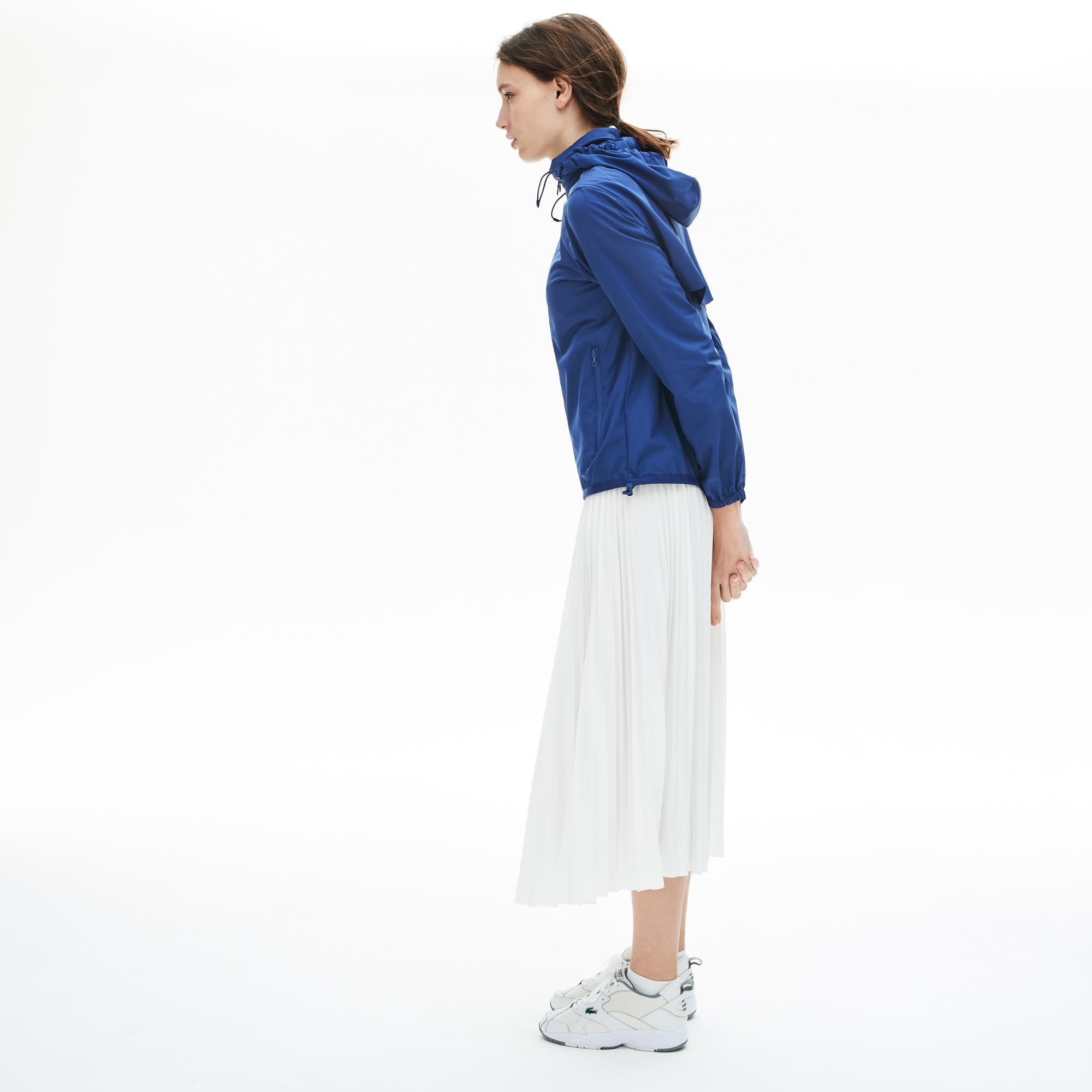 Lacoste Women's Wind And Water-Resistant Foldable Windbreaker