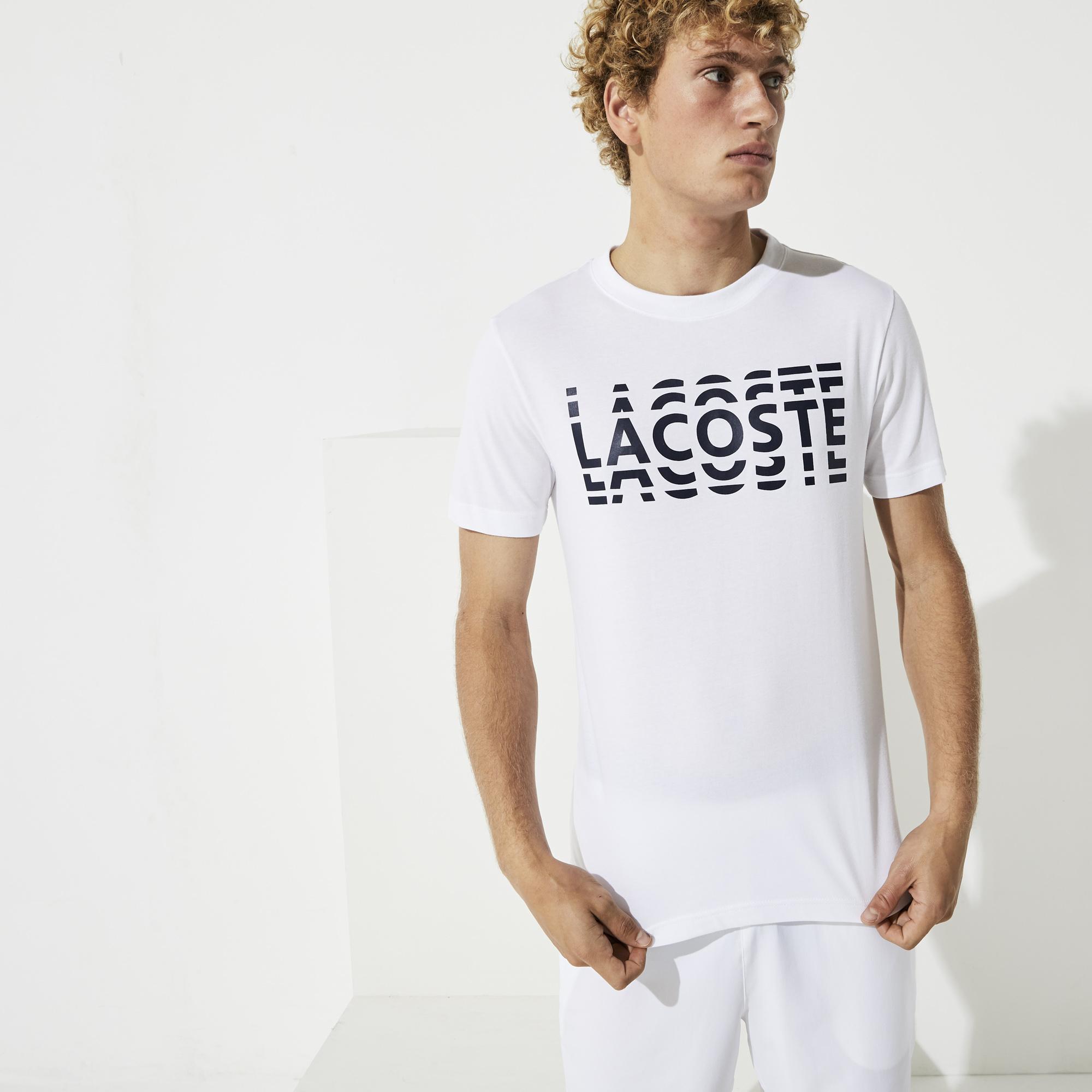 Lacoste Men's Sport Printed Cotton Blend T-Shirt