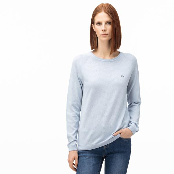 Lacoste Women's Round Neck Tricot Sweater