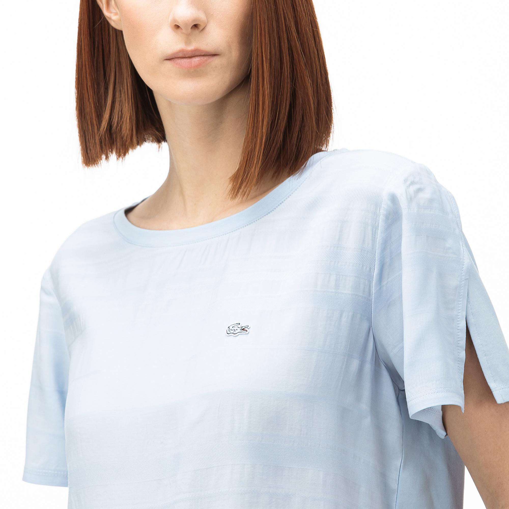Lacoste Women's Boat Neck Striped T-Shirt