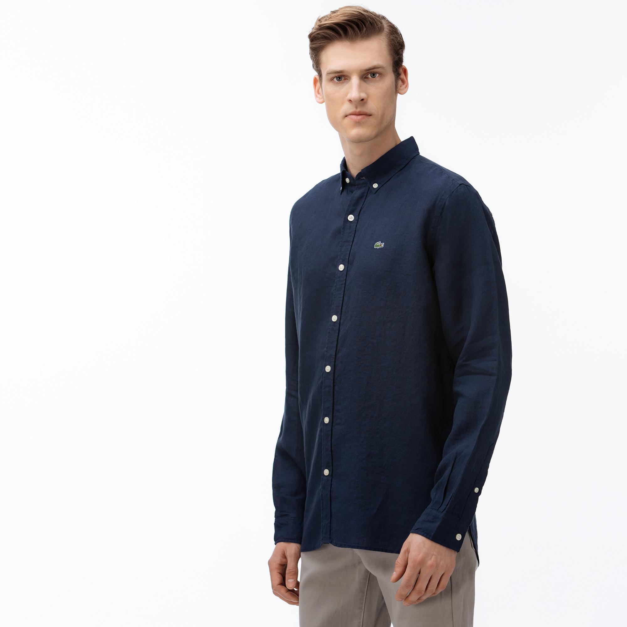 Lacoste Men's Regular Fit Linen Shirt