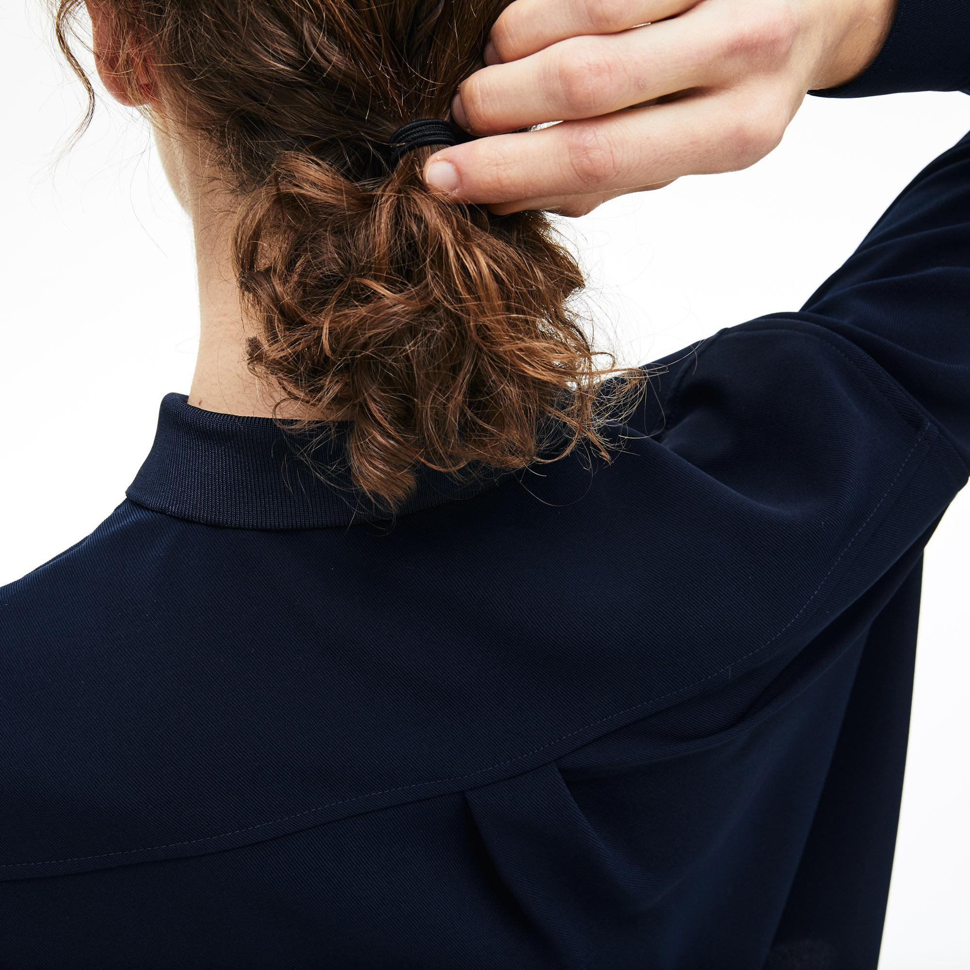 Lacoste Women's Relaxed Fit Flowy Blouse