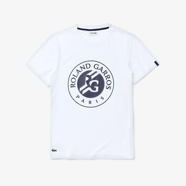 Lacoste Men's Sport Roland Garros Logo Print T-Shirt