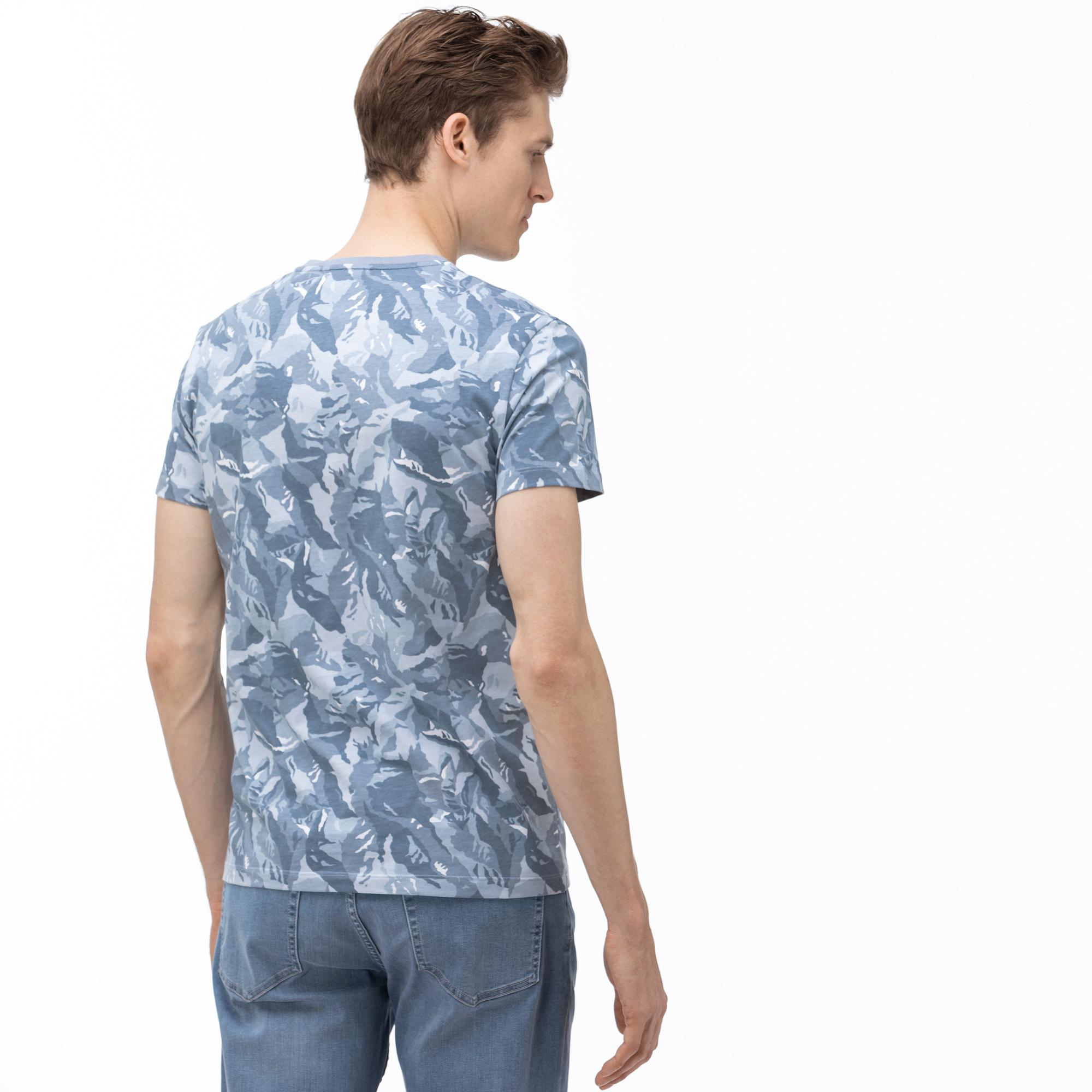 Lacoste Men's V-Neck Graphic T-Shirt
