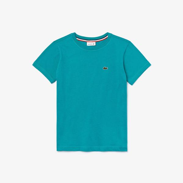 Lacoste Boys' Crew Neck Cotton Jersey T-Shirt
