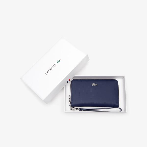 Lacoste Women's Daily Classic Wrist Loop Coated Canvas Wallet