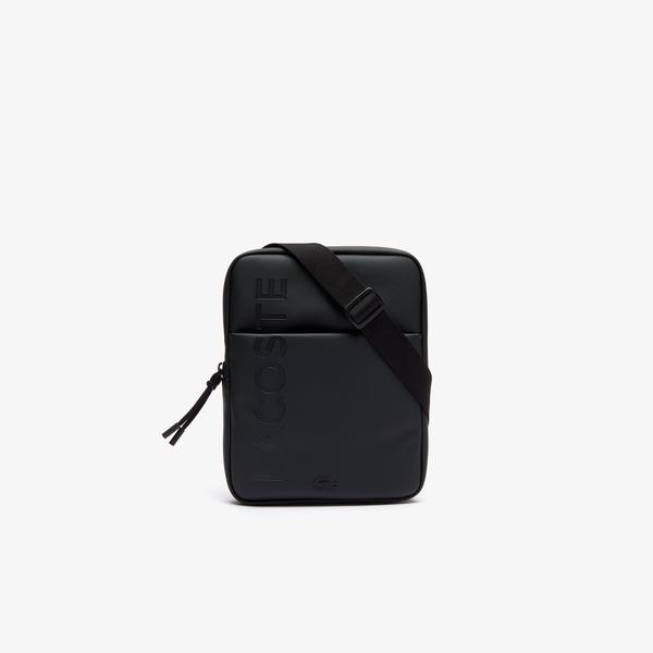 Lacoste Men's L.12.12 Branded Zippered Flat Bag
