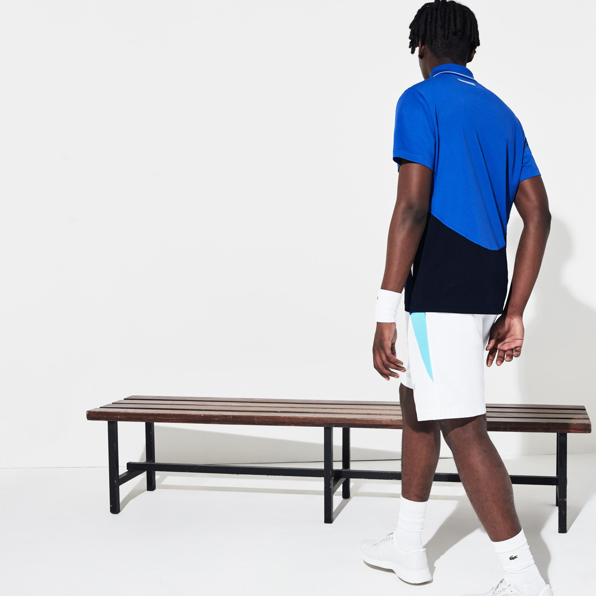 Lacoste Men's Sport Ultra-Dry Piqué Zip Tennis Polo