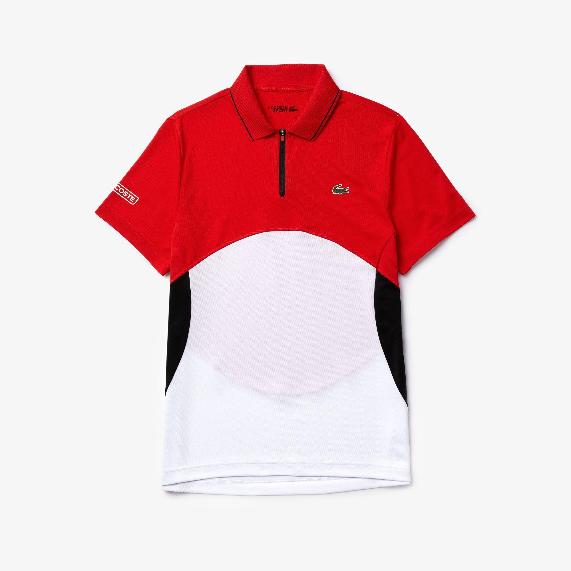 Lacoste Men's Sport Ultra-Dry Piqué Zip Tennis Polo