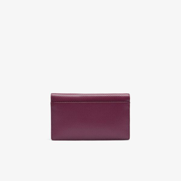 Lacoste Women's Chantaco Chain Strap Leather Flap Clutch Bag