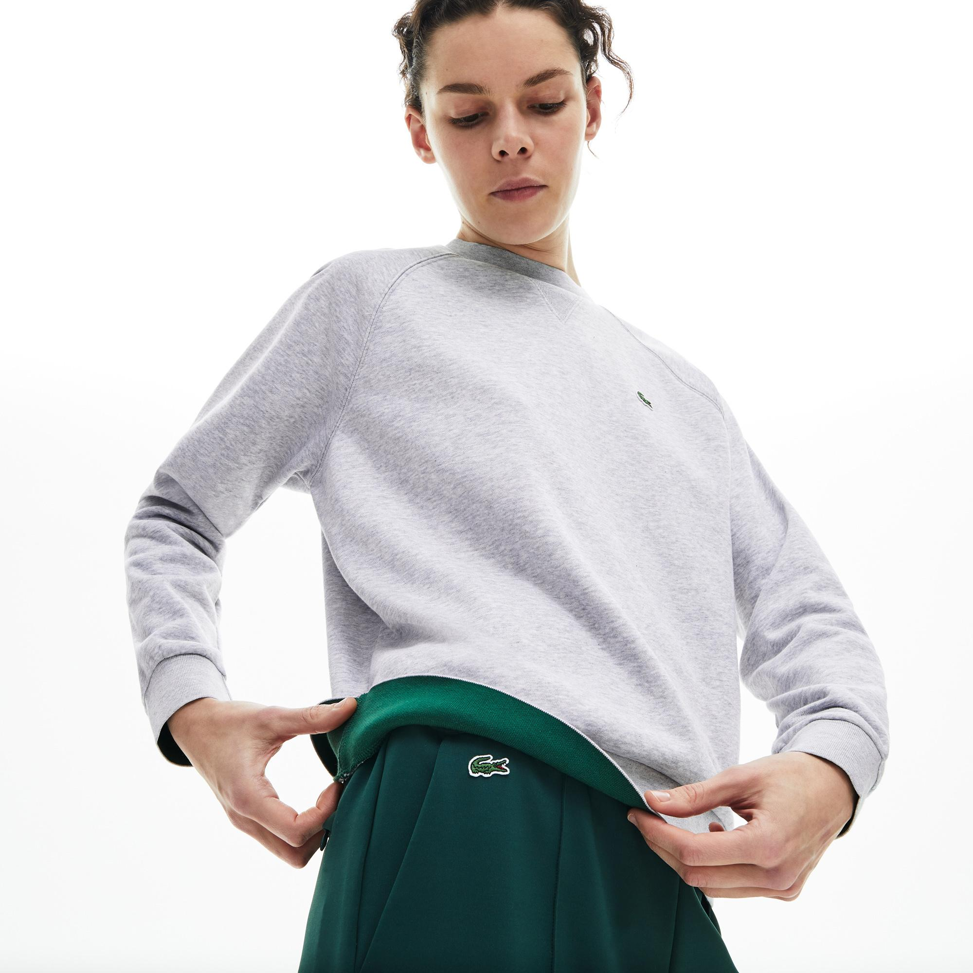 Lacoste Women's Classic Crew Neck Fleece Sweatshirt