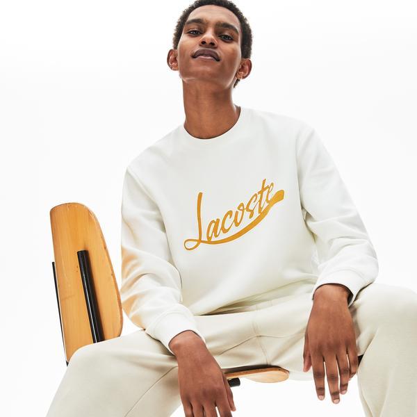 Lacoste Men's Signature Print Crew Neck Sweatshirt