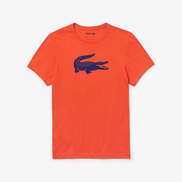 Lacoste Men's Sport Oversized Crocodile Technical Jersey Tennis T-Shirt