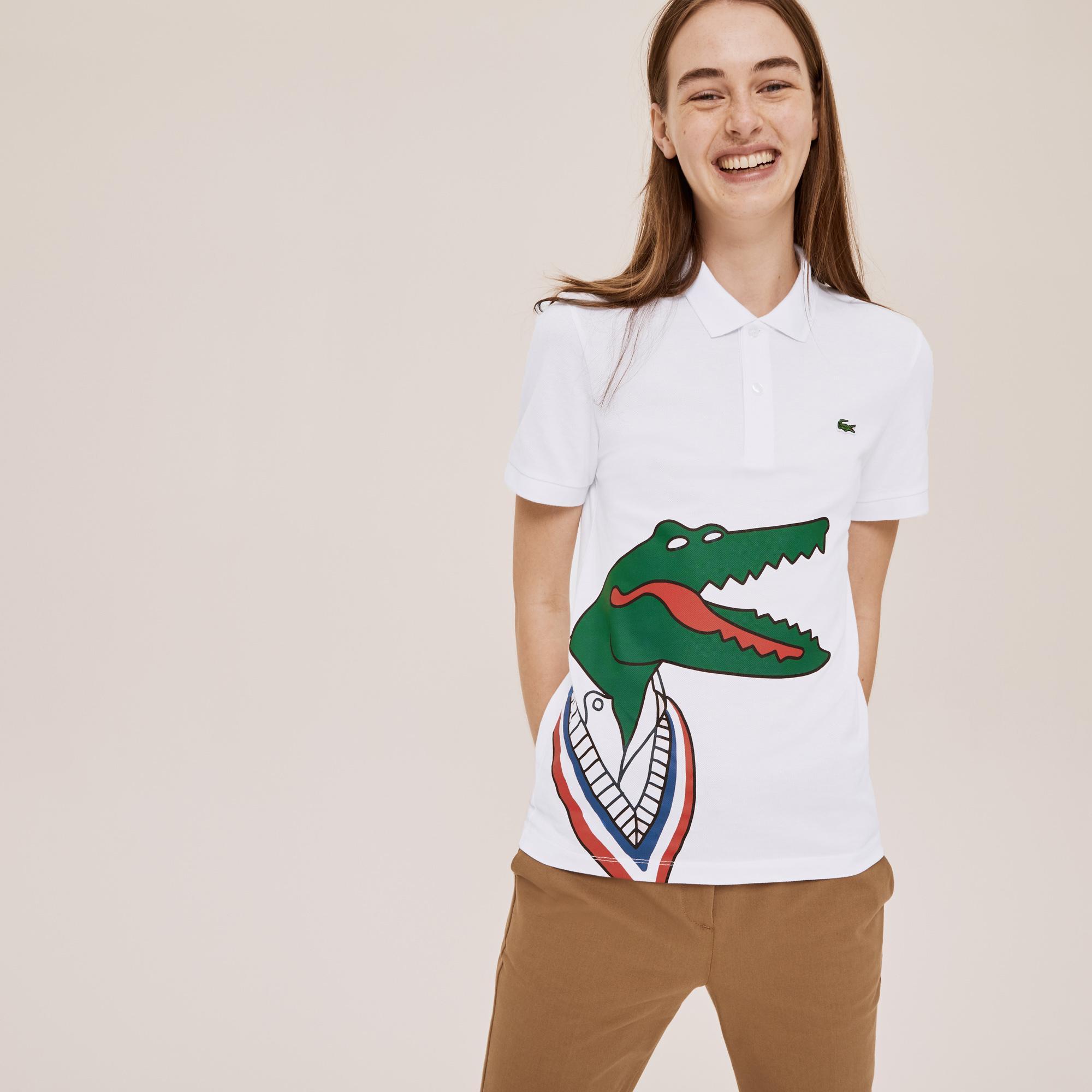 Lacoste Unisex x Jean-Michel Tixier Print Classic Fit Polo Shirt