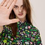 Lacoste Men's Button-Down Collar Graphic Short Sleeve Shirt