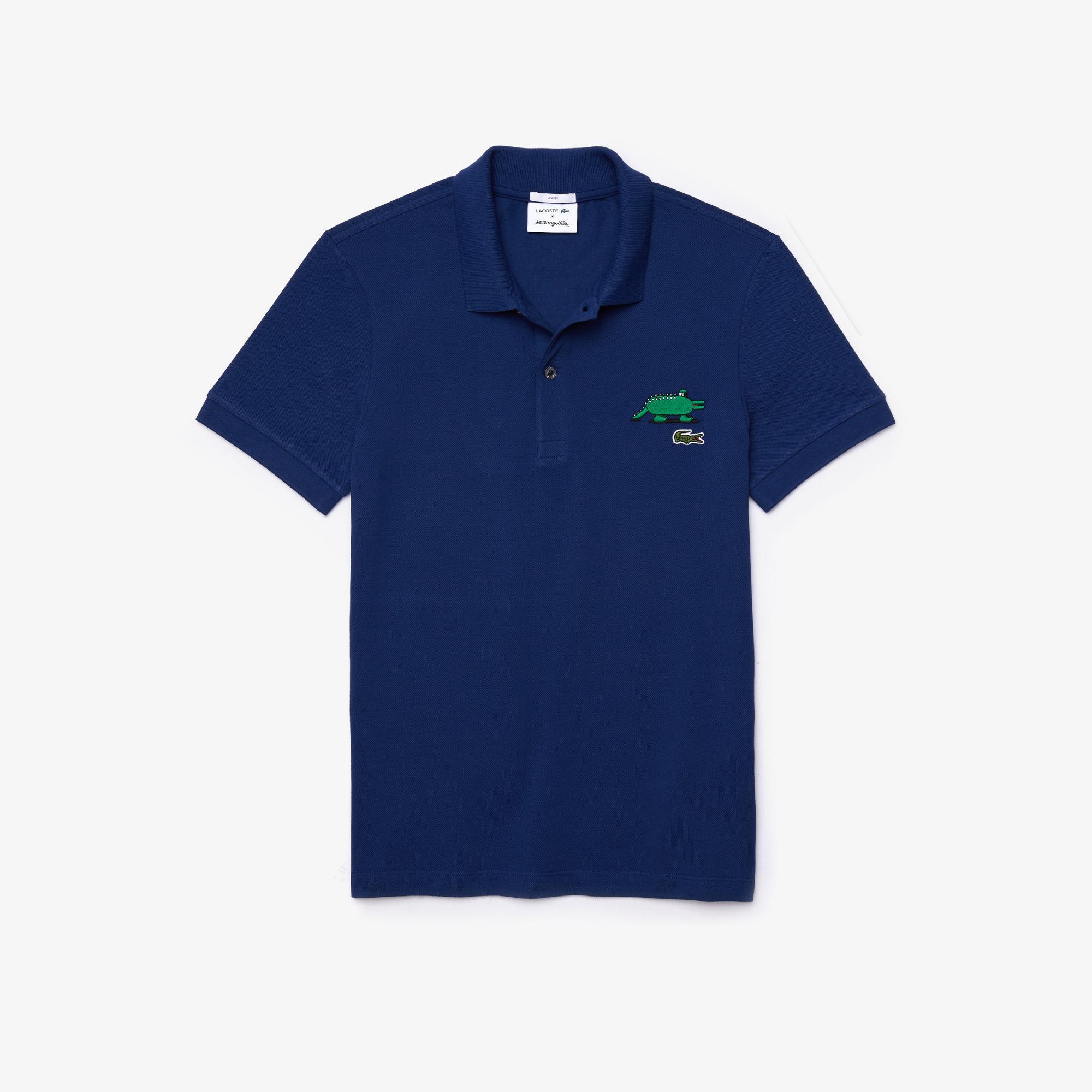 Lacoste Unisex x Jeremyville Design Classic Fit Polo Shirt
