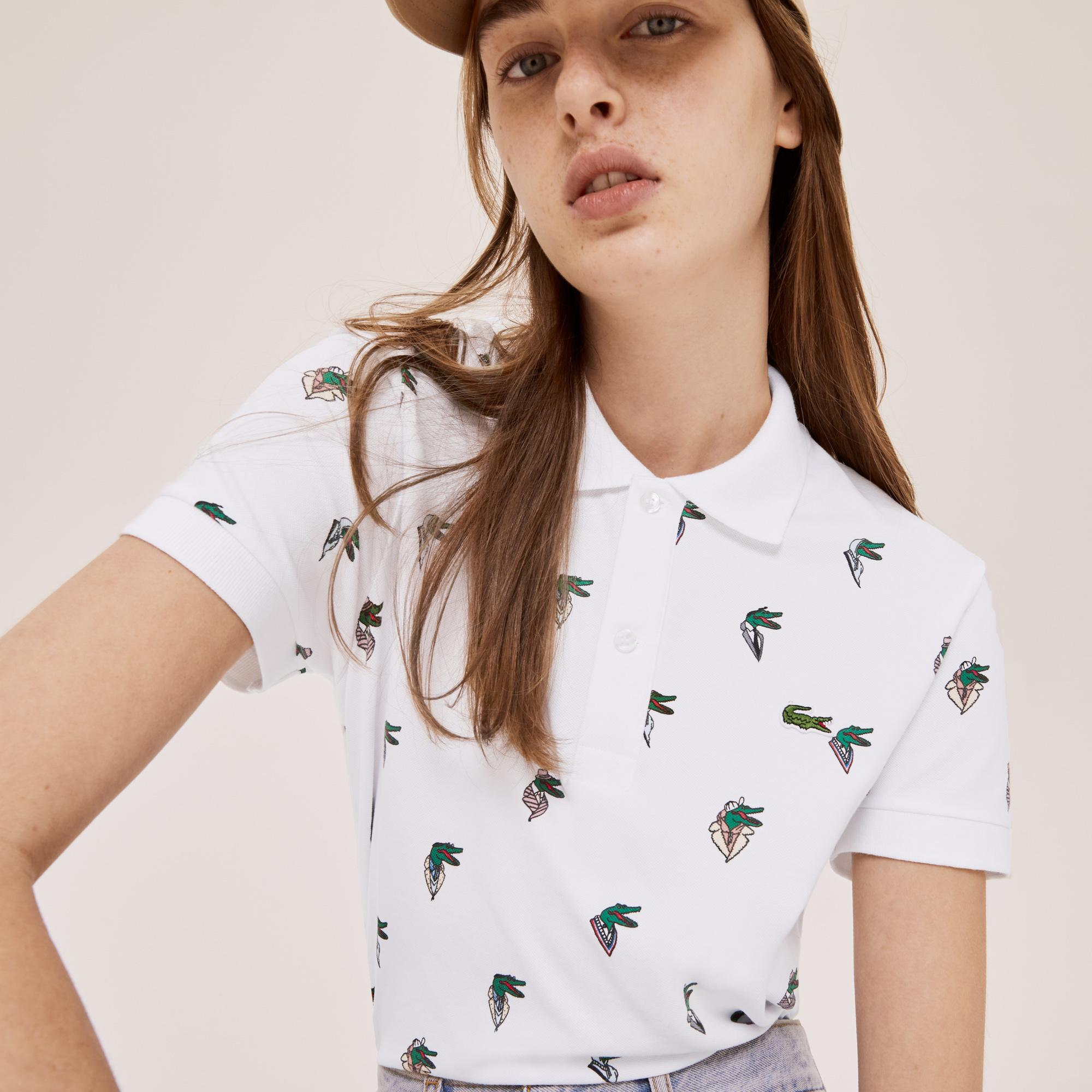 Lacoste Unisex x Jean-Michel Tixier Print Regular Fit Polo Shirt