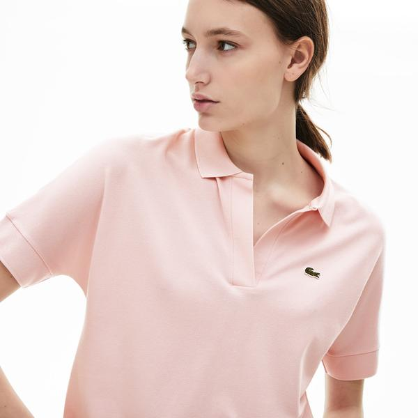 Lacoste Women's Flowy Piqué Polo Shirt