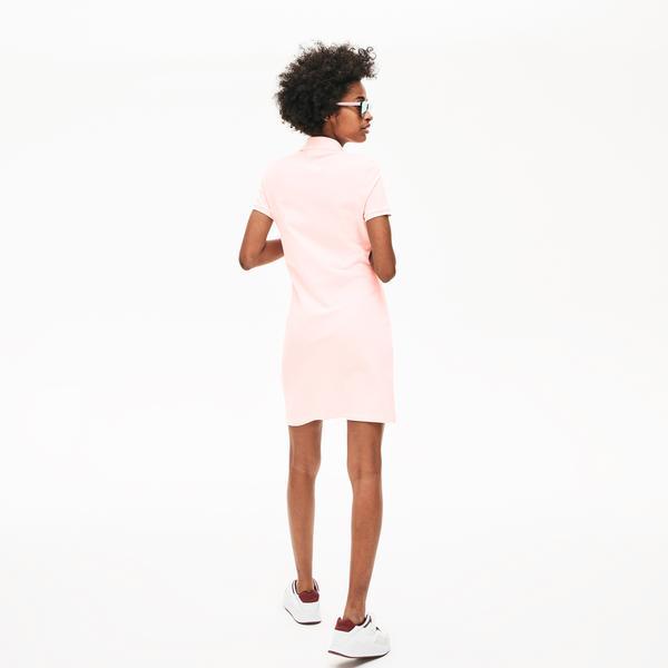 Lacoste Women's Stretch Cotton Mini Piqué Polo Dress