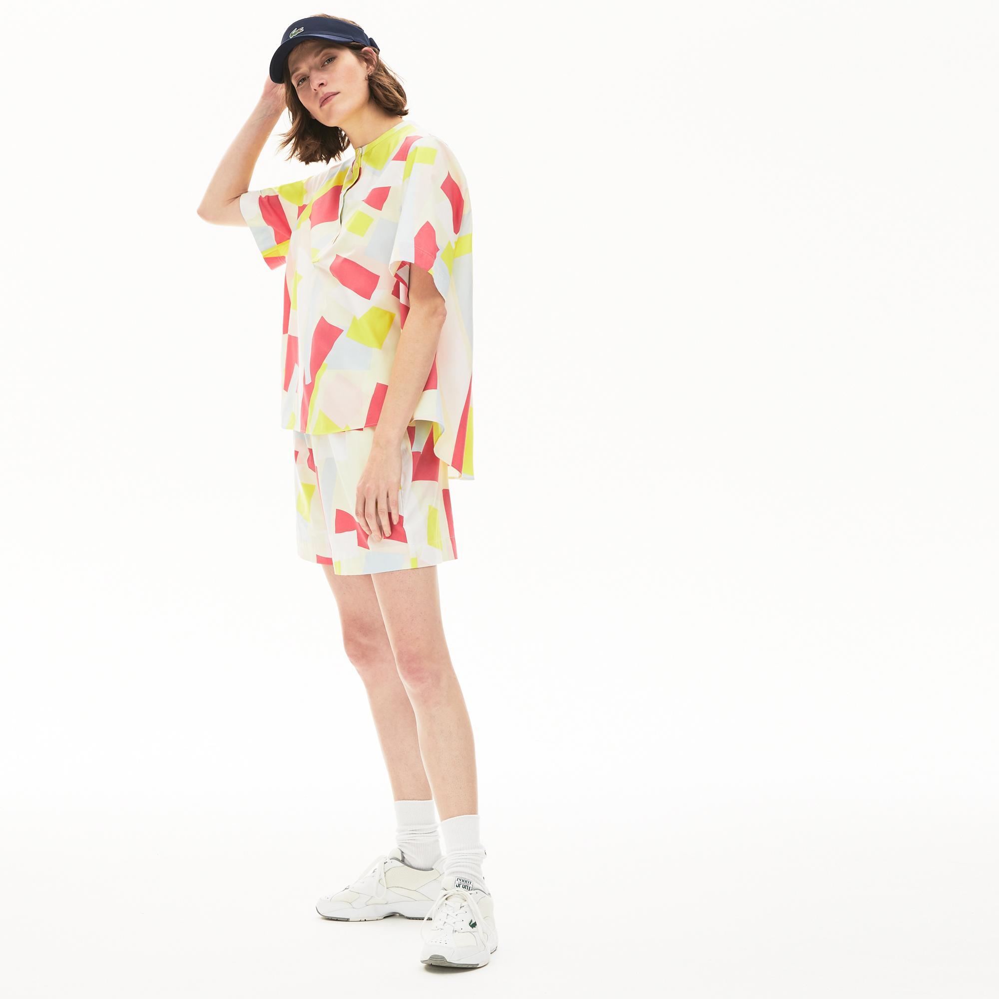 Lacoste Women's Coloured Design Cotton Blend Blouse