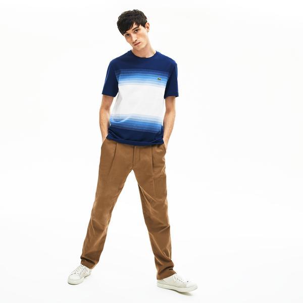 Lacoste Men's Made İn France Cotton Piqué Cotton Crew Neck T-Shirt