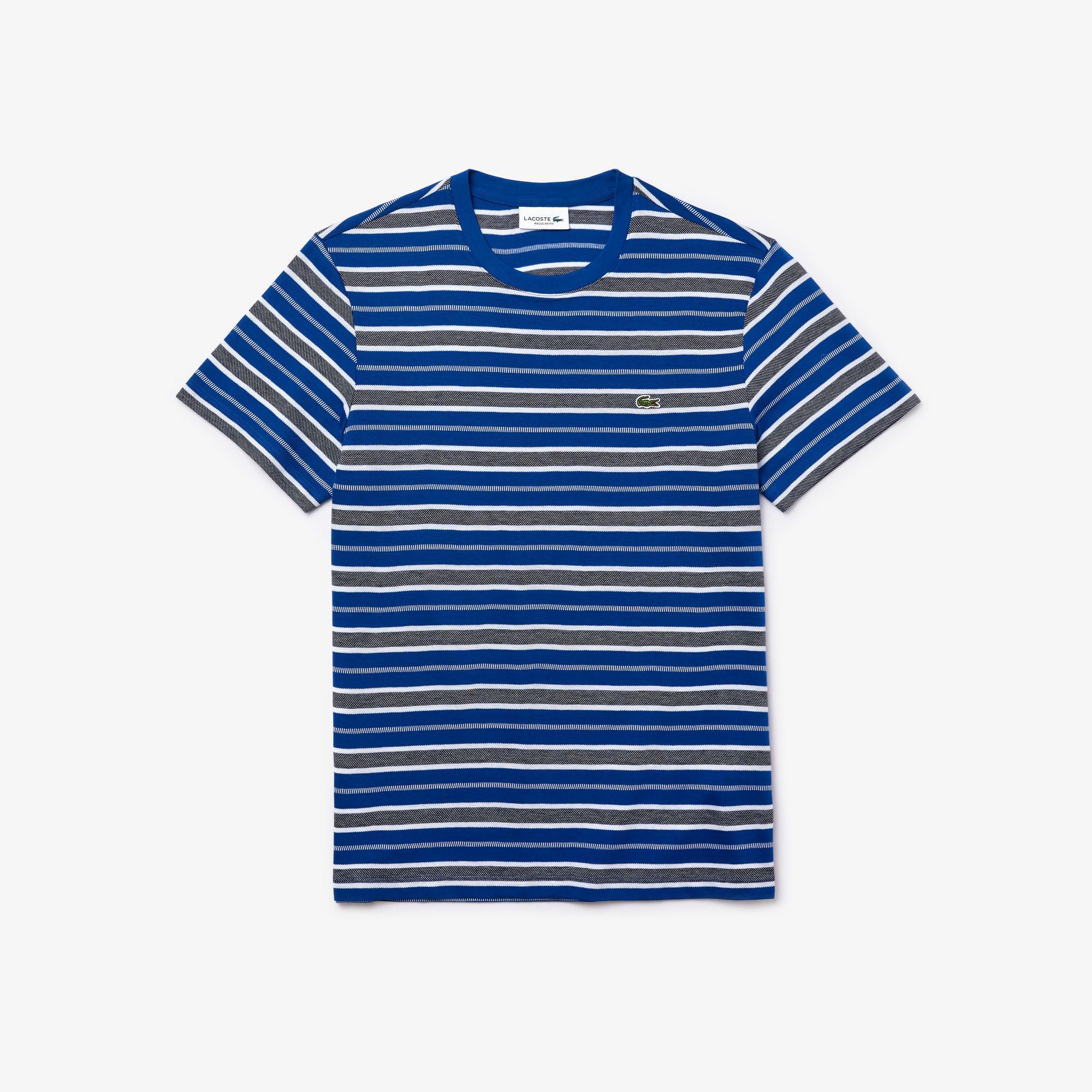Lacoste Men's Striped Crew Neck T-Shirt
