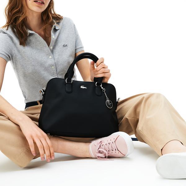 Lacoste Women's Daily Classic Coated Piqué Canvas Bugatti Bag
