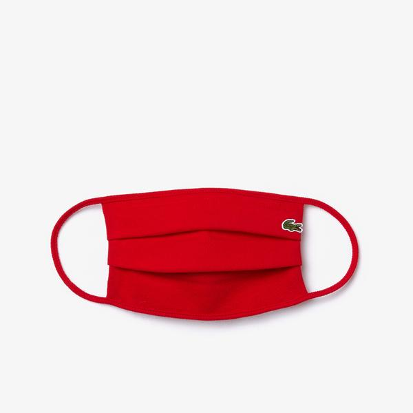 Lacoste L.12.12 face protection mask in cotton piqué