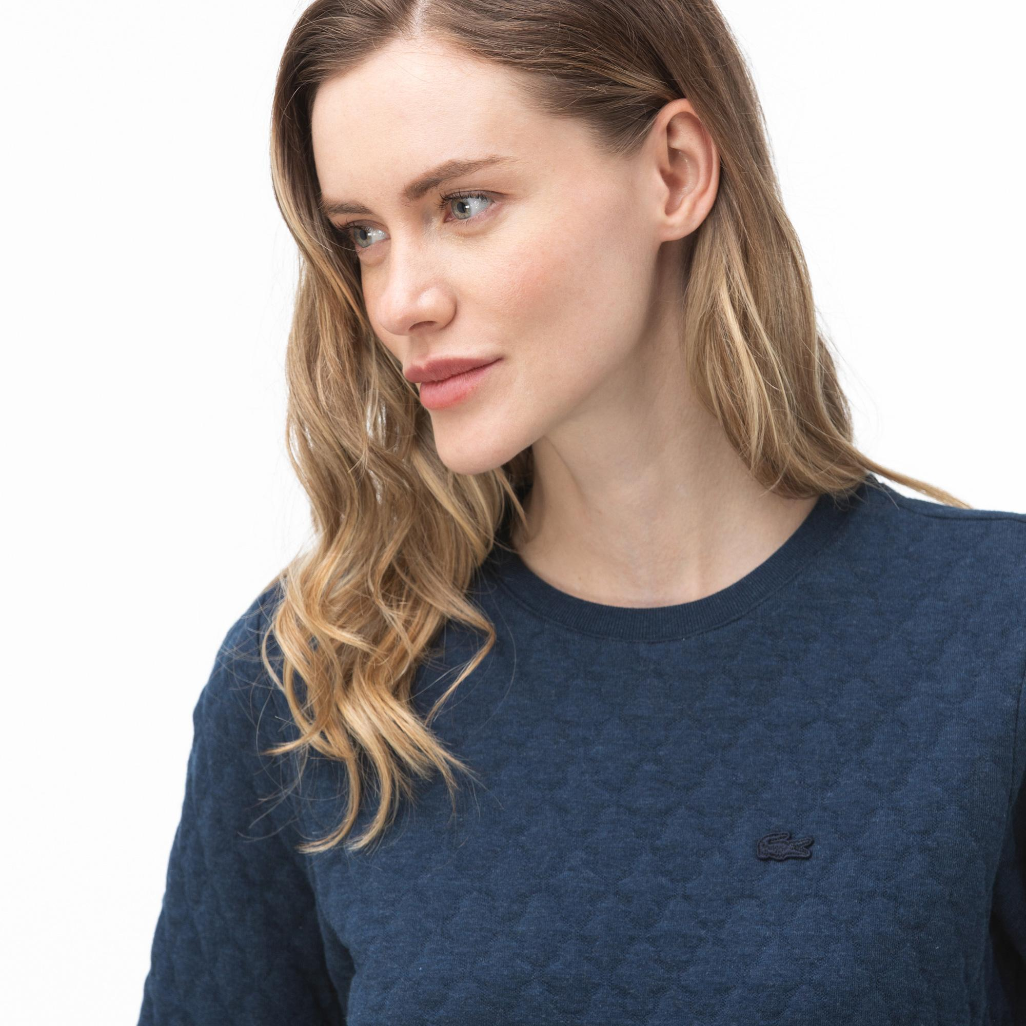 Lacoste Women's Round Neck Quilted Sweater