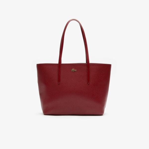 Lacoste Women's Chantaco Piqué Leather Zip Tote Bag