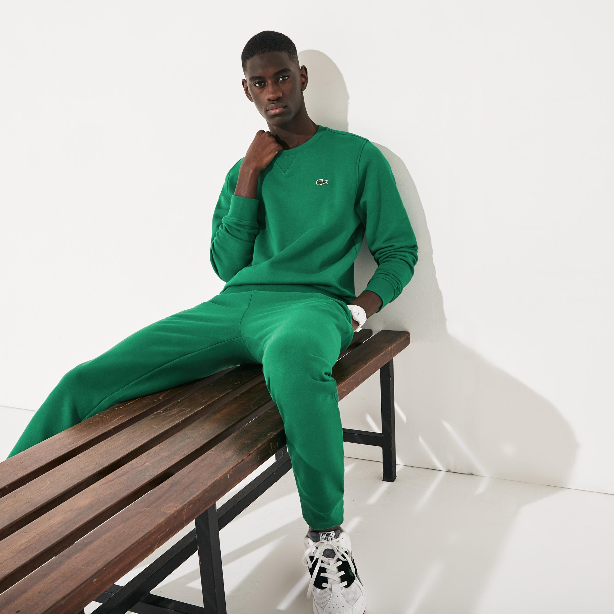 Lacoste Men's Sport Crew Neck Sweatshirt İn Solid Fleece