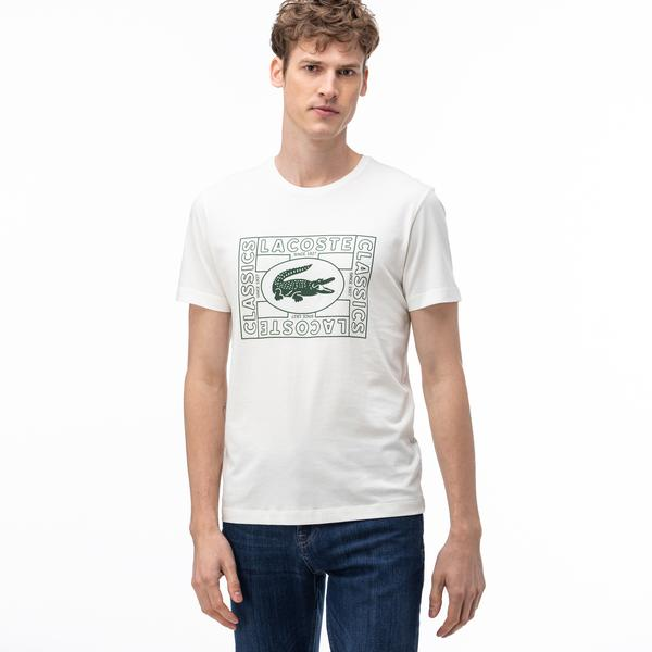 Lacoste Men's Crocodile Print Crew Neck T-Shirt