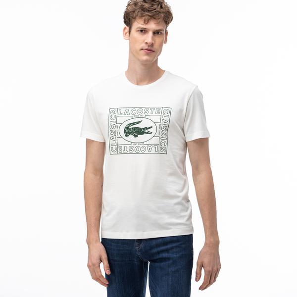 Lacoste Men's Crocodile Print Crew Neck T-Shirt