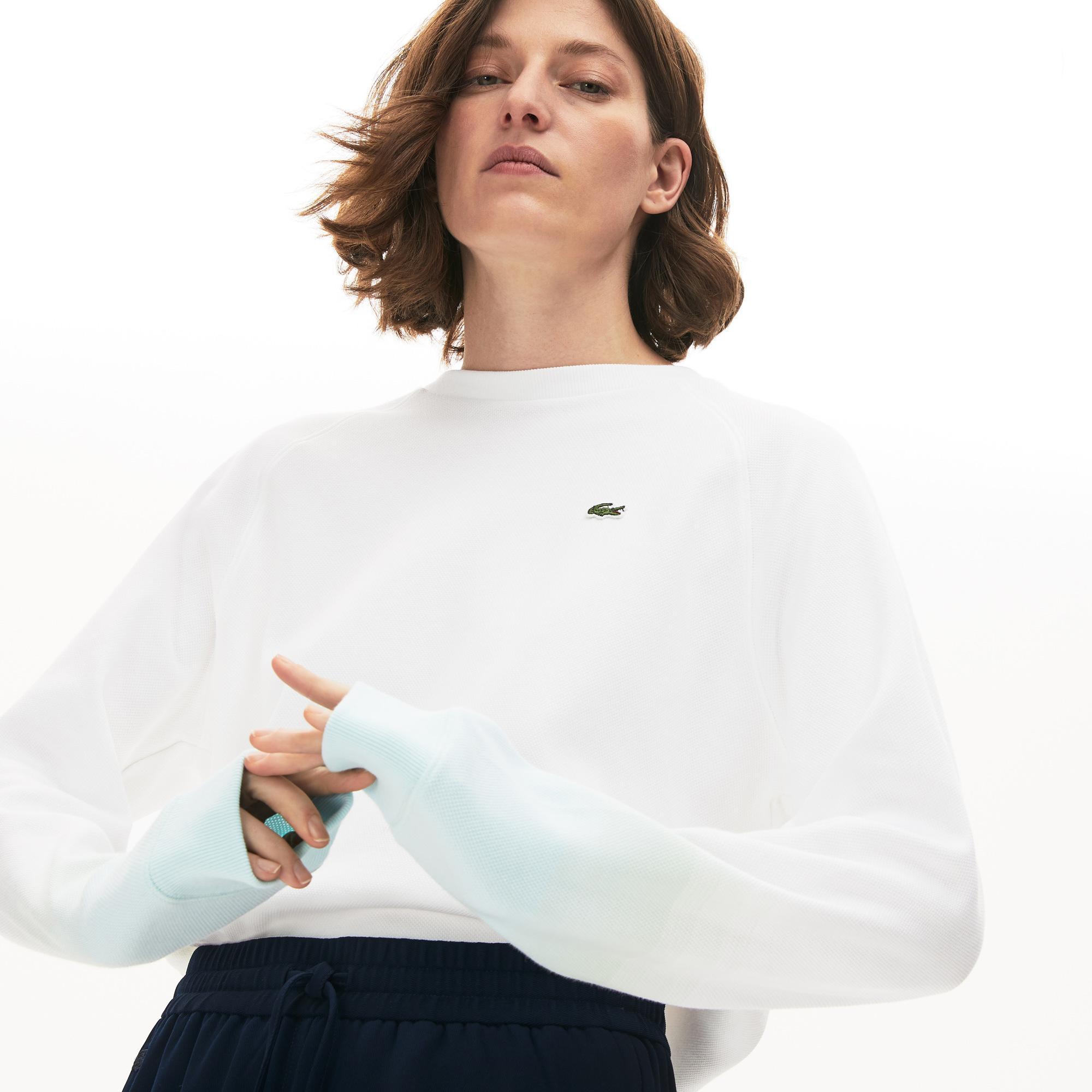 Lacoste Women's Made İn France Crew Neck Organic Cotton Sweatshirt