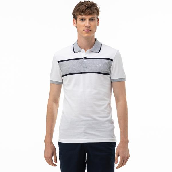 Lacoste Men's Regular Fit Block Striped Polo