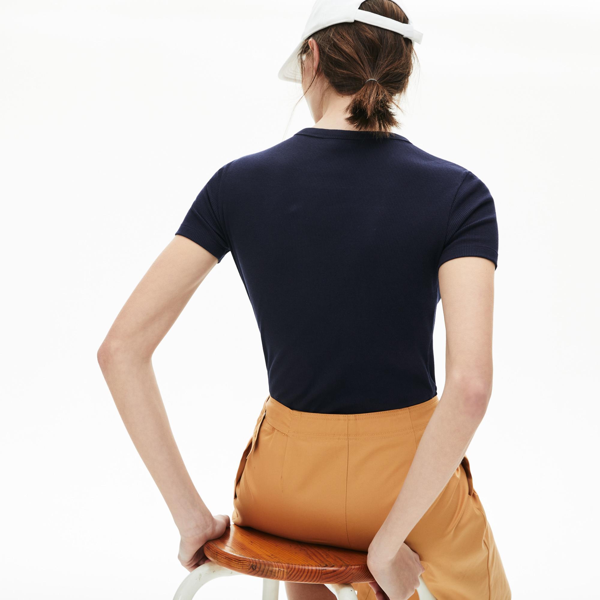 Lacoste Women's Soft Cotton Crew Neck T-Shirt
