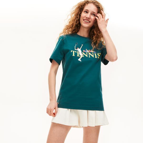 Lacoste Unisex LIVE Tennis Design Cotton T-Shirt