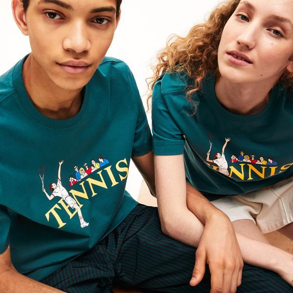 Lacoste Unisex Lıve Tennis Design Cotton T-Shirt