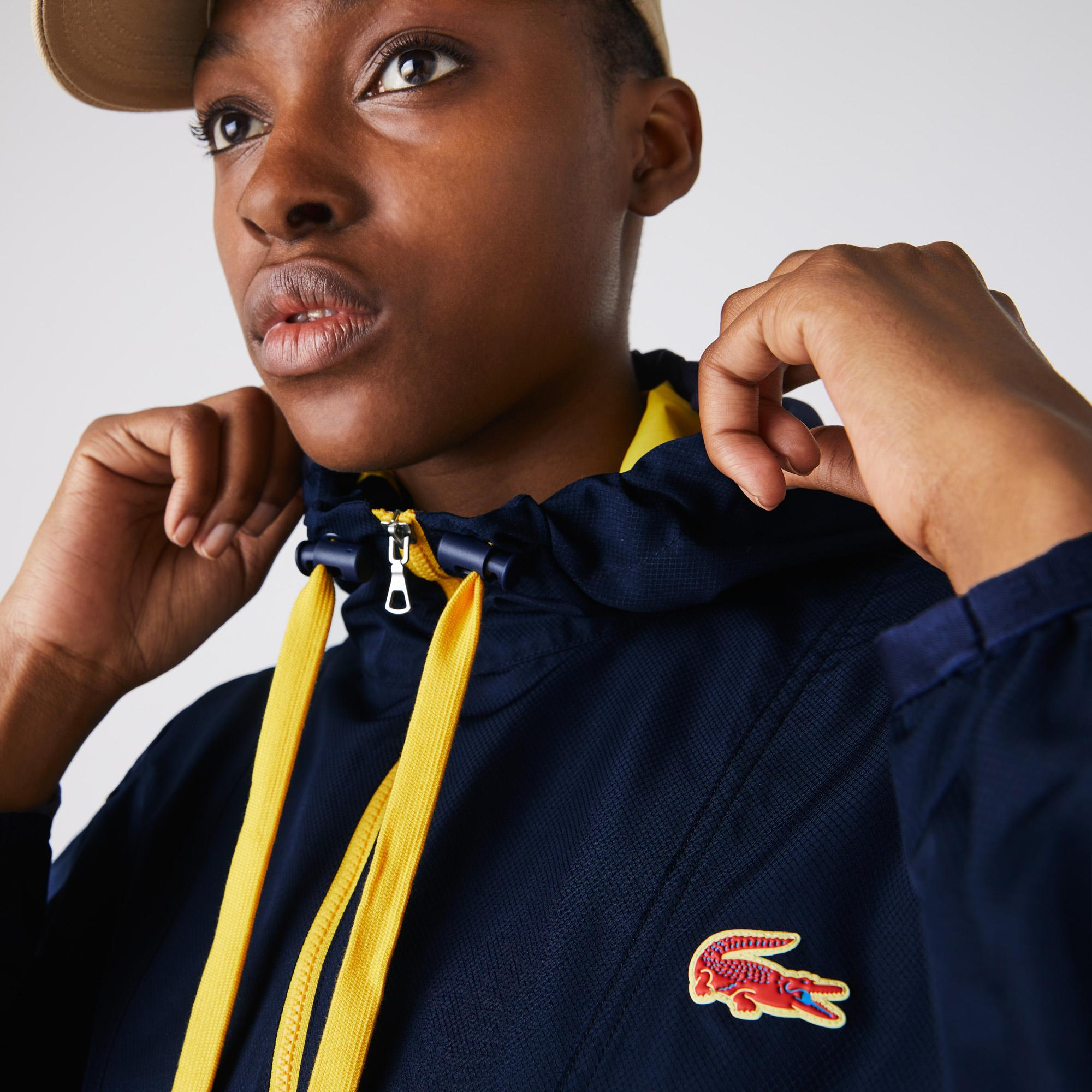 Lacoste Women's SPORT Water-Resistant Pullover Windbreaker