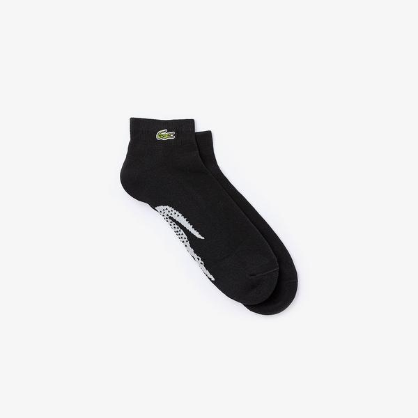 Lacoste Sport Men's Tennis Xl Crocodile Terrycloth Socks