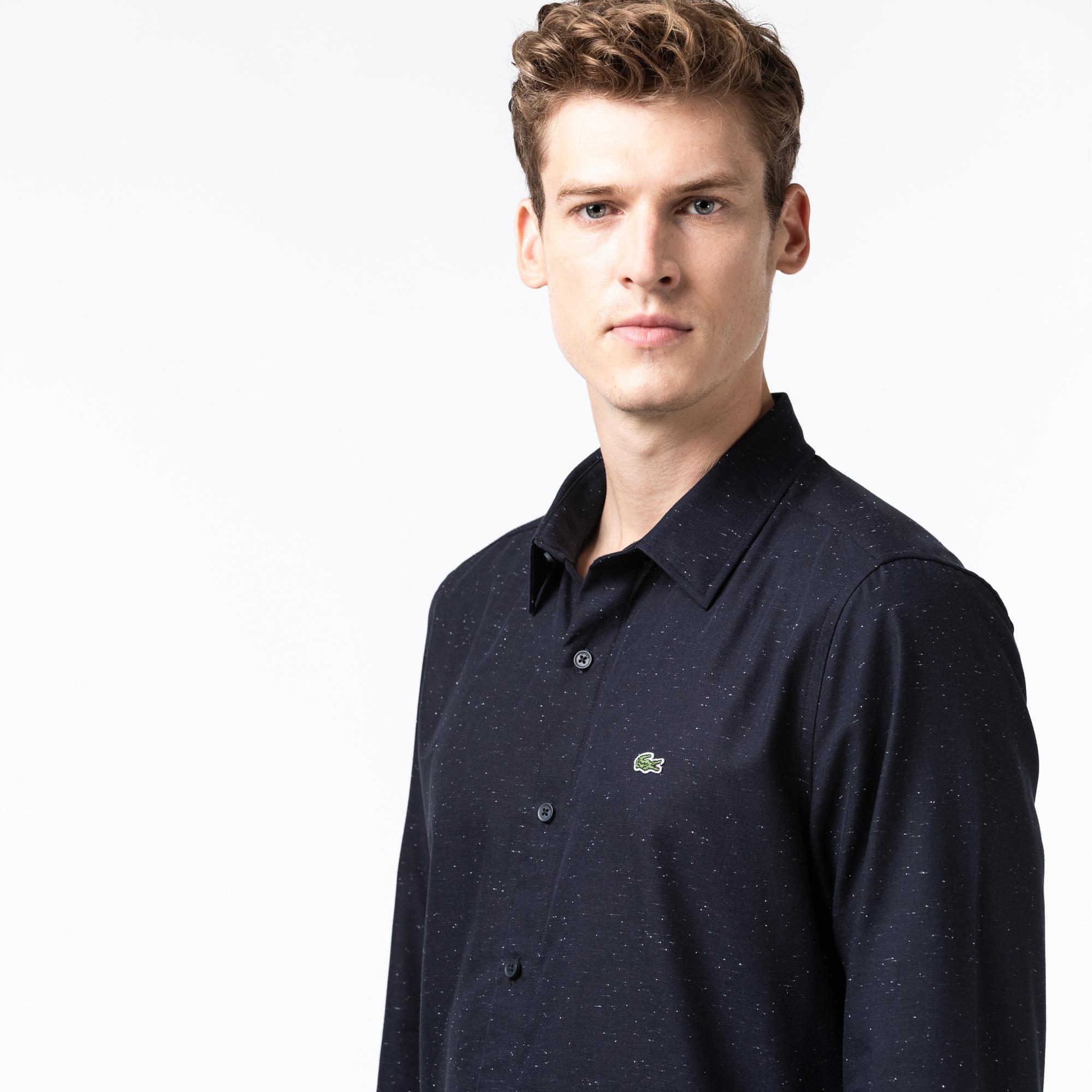 Lacoste Men's Slim Fit Flamed Cotton Shirt