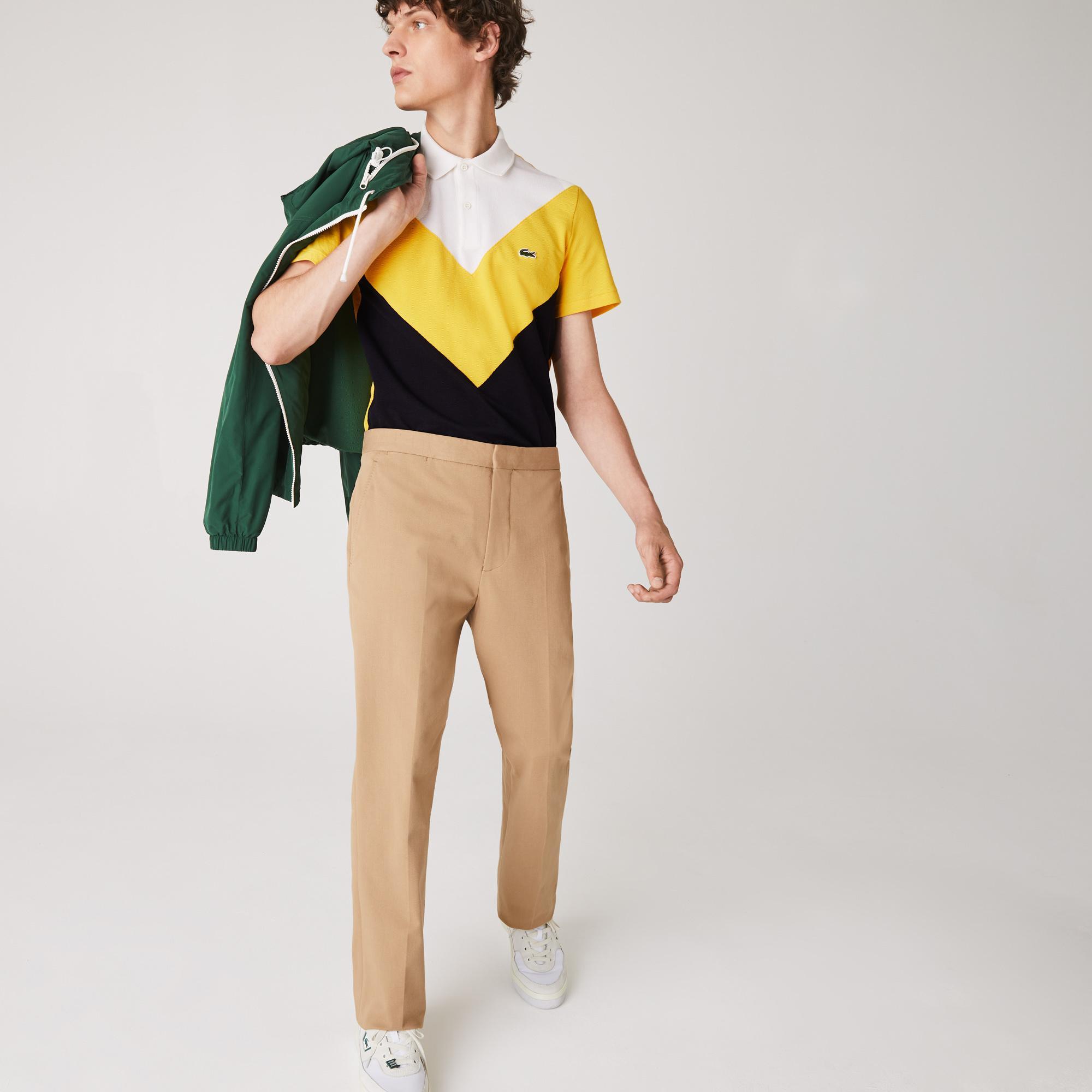 Lacoste Men's Regular Fit Geometric Colorblock Piqué Polo