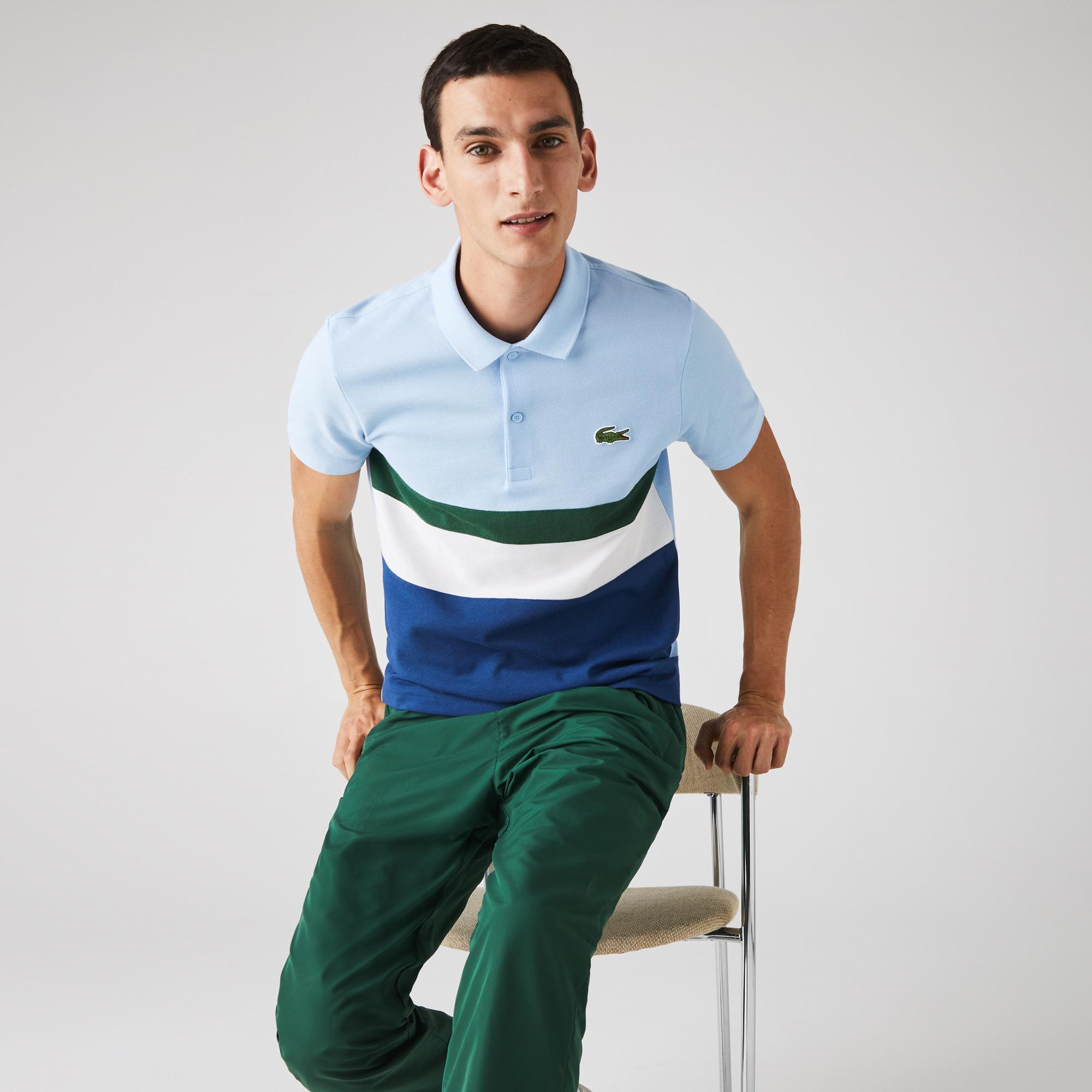 Lacoste Men's Regular Fit Colorblock Cotton Piqué Polo