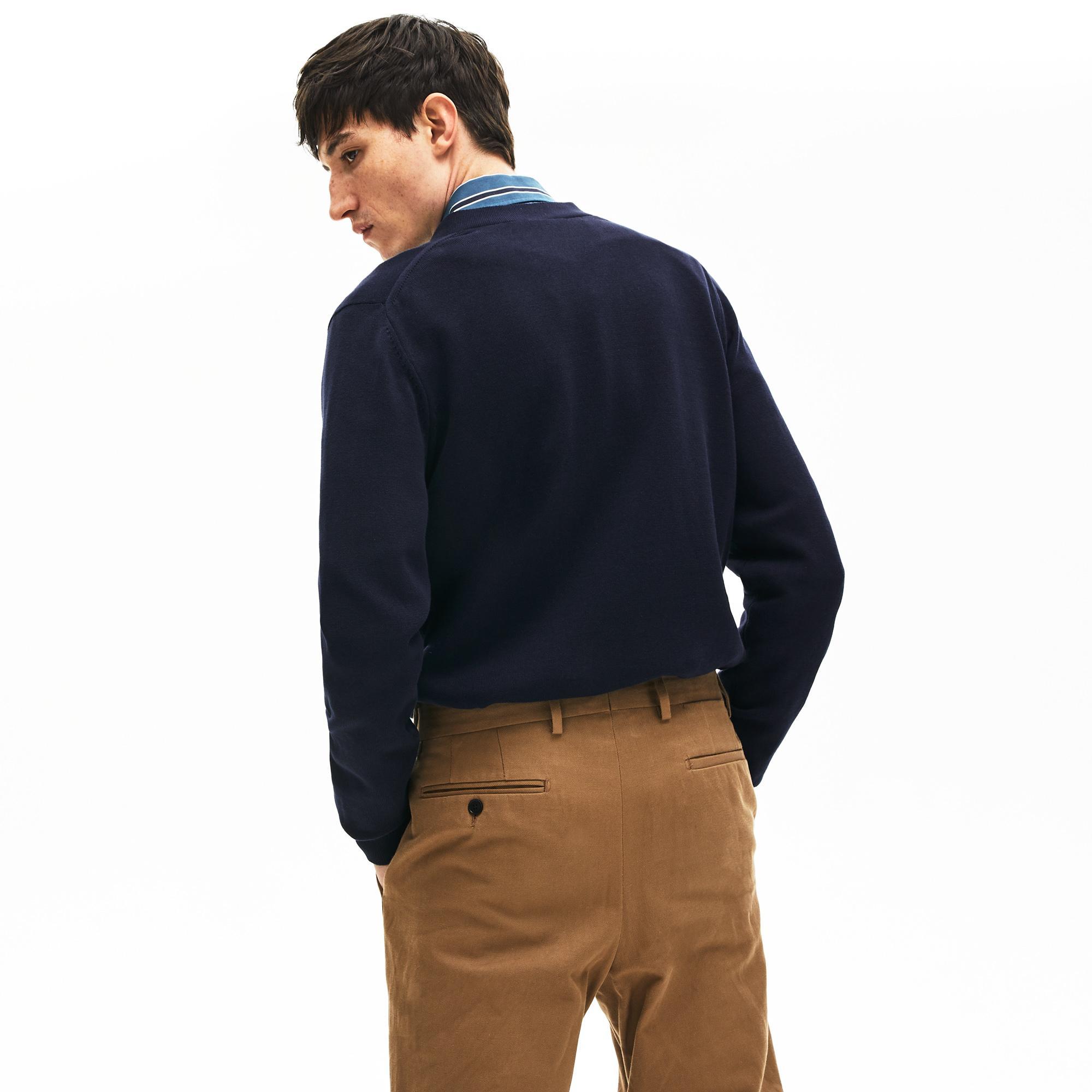 Lacoste Men's Pockets Buttoned Cotton Cardigan