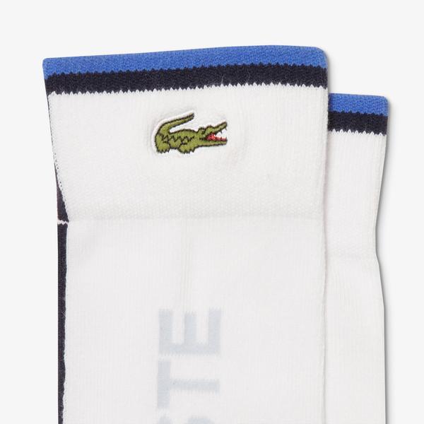 Lacoste Men's Sport Colourblock Cotton Blend Tennis Socks